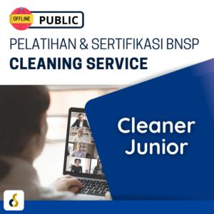 Public Offline Pelatihan & Sertifikasi BNSP Cleaning Service Cleaner Junior