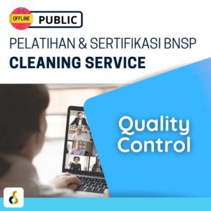 Public Offline Pelatihan & Sertifikasi BNSP Cleaning Service Quality Control